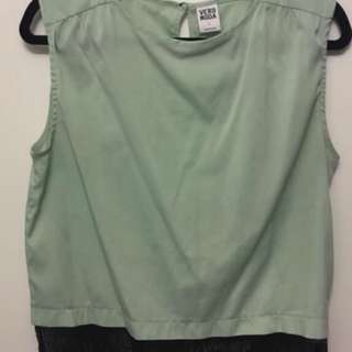 Vero Moda Mint and lace blouse - Size S