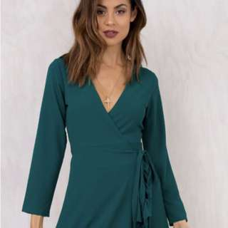 Wrap dress from princess polly
