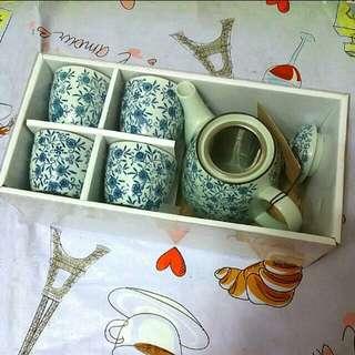 一壺四杯陶瓷茶具套裝