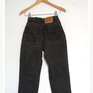 Washed black vintage Levis