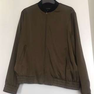 Top shop khaki bomber jacket