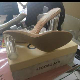 Ego Clear Lucite Heels size 42 / 11