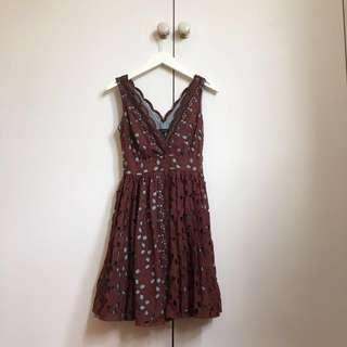 KAREN WALKER Summer Lace Dress 8