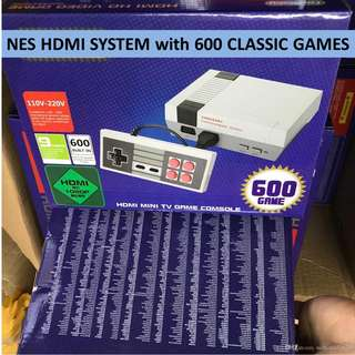 NES Nintendo Classic - Ready with 600 Nintendo GAMES & HDMI