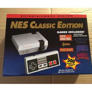 Nintendo Classic Edition Game System - 500 GAMES Ready to Play!