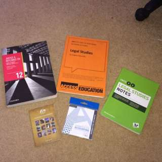 legal studies books + accounting ebook