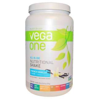 Vega One All-in-one Nutritional Shake Natural Plant-based No sugar added Gluten-free Certified Vegan Meal Replacement French Vanilla