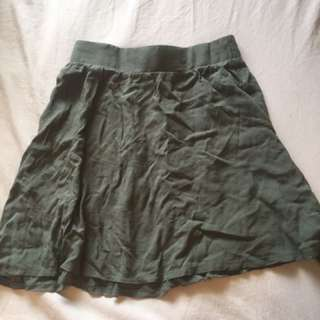 Supré Green Skater Skirt- SMALL
