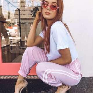 Quay Kylie Cat Eye Transparent Frames in Purple