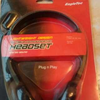 全新未開封 ~ EagleTec ~ Plug n Play Headset耳機
