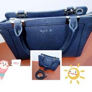 agnes b Crossbody Bag (Navy blue)