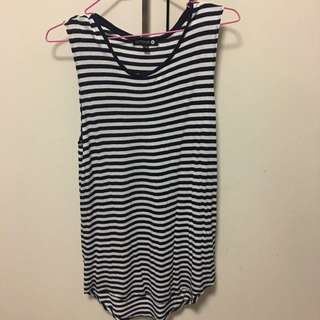 Long Line Stripe Singlet