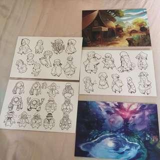 Concept Art Postcards