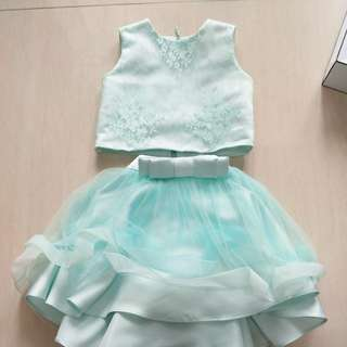 aqua dress for girl