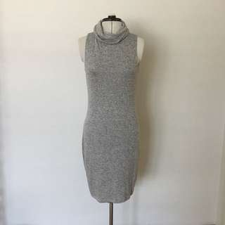 Forever New Grey Turtle Neck Dress
