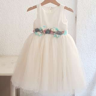 White gown for 2yo girl