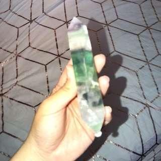 Rainbow fluorite wand