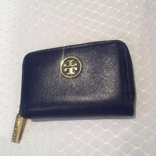 Tory Burch Small Wallet cobalt blue with gold hardware