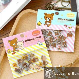 80 Pcs Rilakkuma Brown Bear Loose Sticker Pack