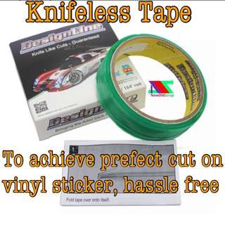 Knifeless tap for design cutting