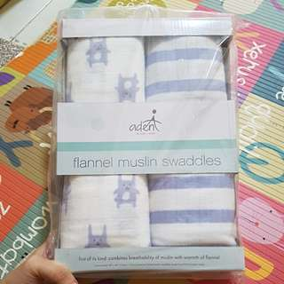 Aden + Anais Baby Blue swaddles