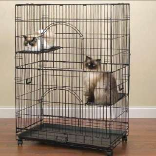 3 Tier Cat Cage **FREE HAMMOCK**