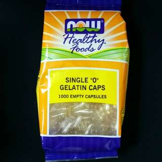 Now Foods, 1000 Size '0' Gelatin Capsules + Free Postage