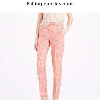 JCREW  FALLING PANSIES PANTS Size 4