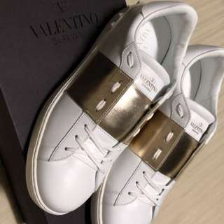 Valentino Paneled sneakers - White and Gold