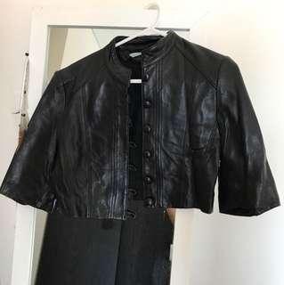 Kookai Crop Leather Jacket