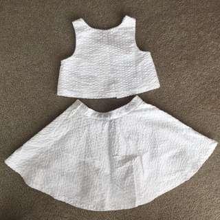 Polo Ralph Lauren Girls Top And Skirt Set