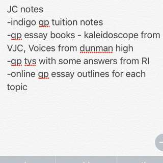 General Paper Notes for JC A levels raffles vjc indigo tuition