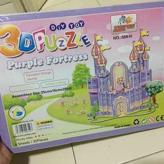 New 3D Board Puzzle - Purple Fortress