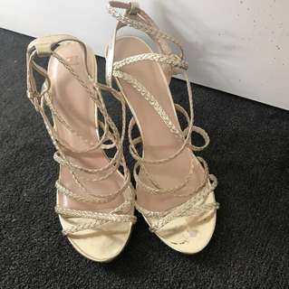 Gold Forever New Heels