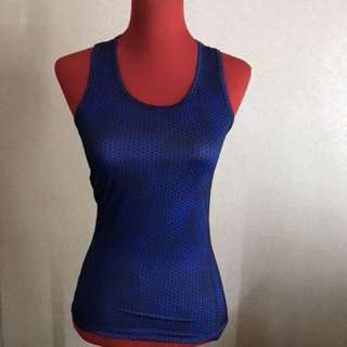 Blue Graphic Sports Top