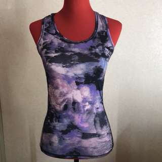 Lilac Graphic Sports Top