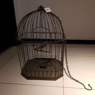 Vintage looks bird cage clock