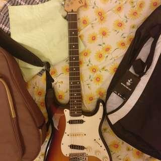 Squire Stratocaster indonesia made
