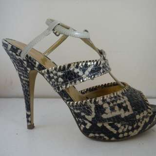 Charles and Keith Faux snakeskin heels