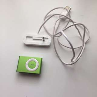 Green Apple iPod Shuffle 1GB 2nd Gen