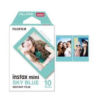 (Including postage) Instax Film Sky Blue
