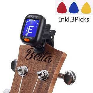 GAD0281AA - Brand New Digital Chromatic LCD Clip-On Electric Tuner for Bass, Guitar, Ukulele, Violin