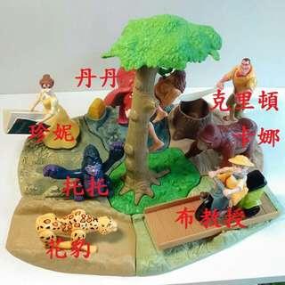 1999【泰山】TARZAN系列組合玩具~7款合購