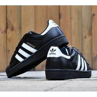 全新 adidas 貝殼 鞋 黑色 全黑