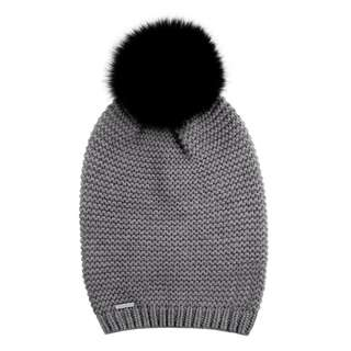 Brand New with Tag SOIA KYO CADDIE KNIT HAT WITH FUR POM