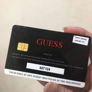 Guess Gift Cards for half it's price