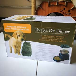 In stock - Automatic Pet Feeder Program Digital Display Cat Dog Food Dispenser 5.5L perfect dinner Voice Recording