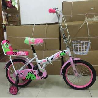 Folding Bike with Back Ride Seat Bicycle