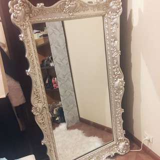 Large 145cm Venetian silver french provincial mirror
