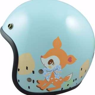 🚚 【金剛安全帽】哈妮鹿 3/4騎士帽/安全帽/復古帽 半罩式 GOGORO/哈雷/偉士專用 買一送二 買就送長鏡片+雨衣